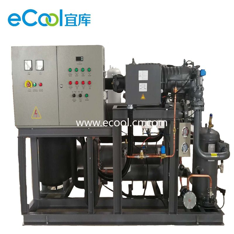 Automatic Bitzer Piston Parallel Refrigeration Compressor Unit  For Large Cold Storage