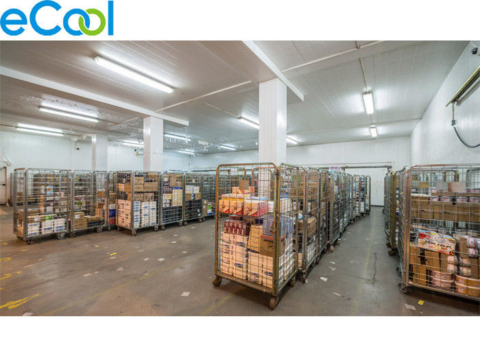 Industrial Refrigeration Food Storage Warehouse With Colored Steel For Prepared Food