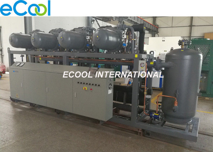 High Temperature Screw Parallel Compressor Unit With PLC For Refrigeration System