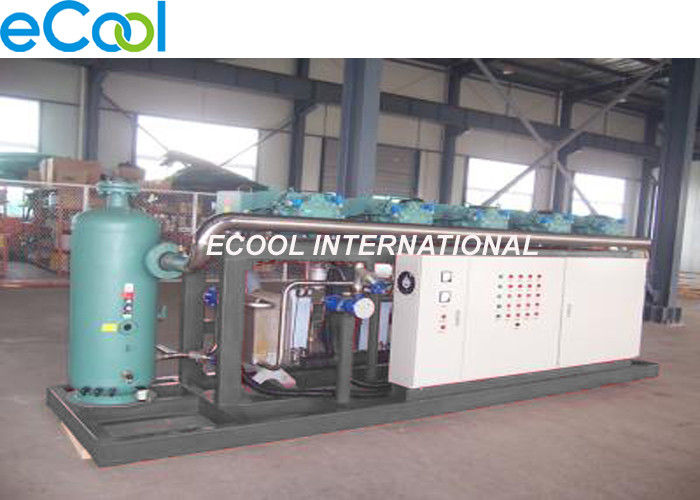 Bizter Screw parallel Compressor Unit with PLC Controller for Fruit Processing Cold Storage Refrigeration System