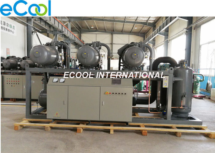 PLC Refrigeration Compressor Unit , High Temperature Screw Parallel Compressor Set