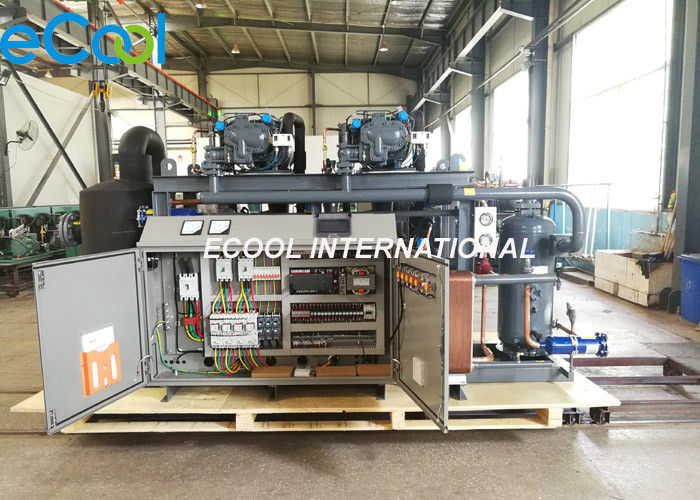 150HP Screw Compressor Unit , Refrigeration Compressor For Large Cold Storage Refrigeration System