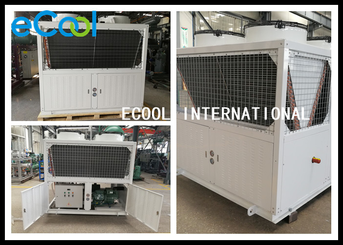 Energy Saving Freezer Condensing Unit With PLC Controller 35C ~45 ℃