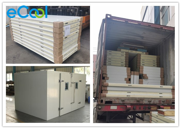 Soundproof Small Cold Storage Panels High Heat Conductivity Customized Size