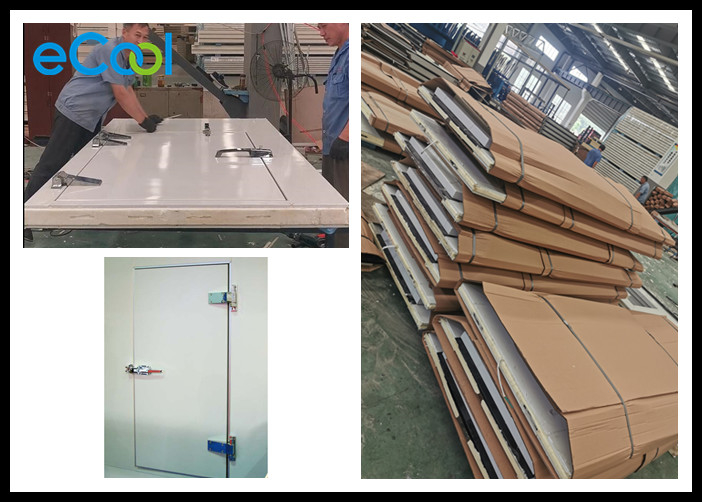Sandwich Insulated Doors For Cold Rooms / White Cold Storage Doors